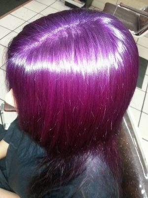 Purple Haircolor by Robert